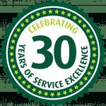 Maxiflex 30th birthday badge