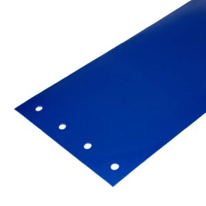 Opaque Blue flat PVC replacement strips