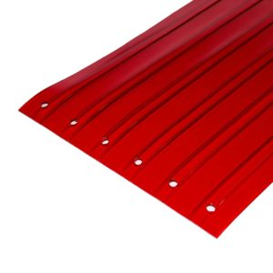 Transparent Red RIbbed Replacement Strips