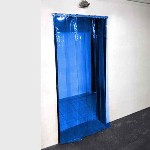 Transparent Blue PVC Strip Curtain Kit